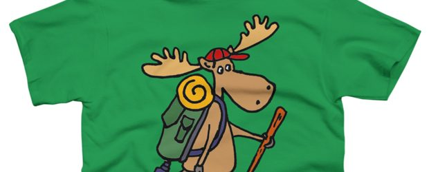 Moose Hiking t-shirt design