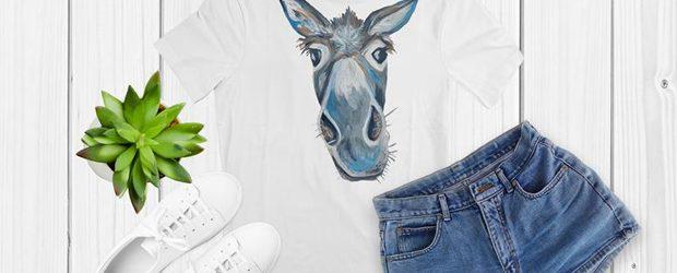 Donkey head t-shirt design