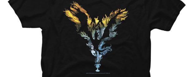 Harry Potter Dragon Flame Silhouette t-shirt design