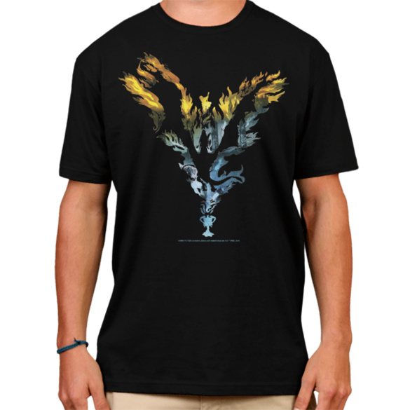 Harry Potter Dragon Flame Silhouette t-shirt design