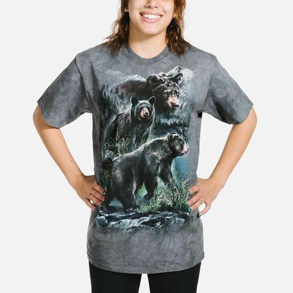 The Mountain American Black Bear Cubs t-shirt design