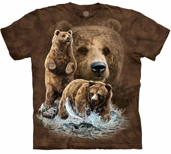 The Mountain Brown Bear t-shirt design