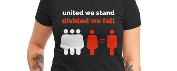 United We Stand Divided We Fall t-shirt design