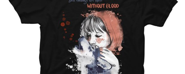 Little Red Riding Hood and the Wolf t-shirt design