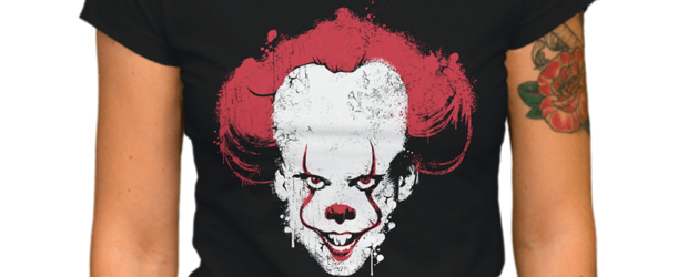 Pennywise Splatter Portrait t-shirt design