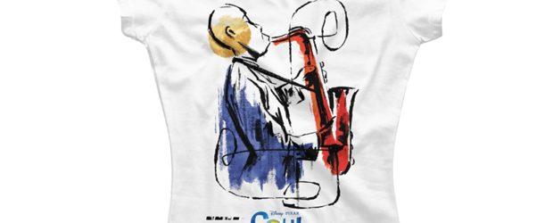 Pixar Soul Watercolor Saxophonist t-shirt design