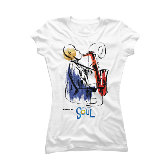 Pixar Soul Watercolor Saxophonist t-shirt design