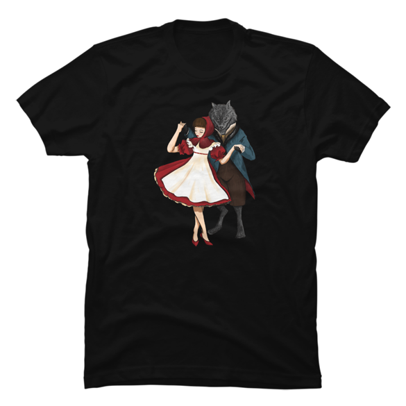 A Dangerous Dance, Red Hood And The Wolf t-shirt design