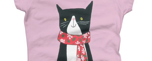 Cat With A Scarf t-shirt design