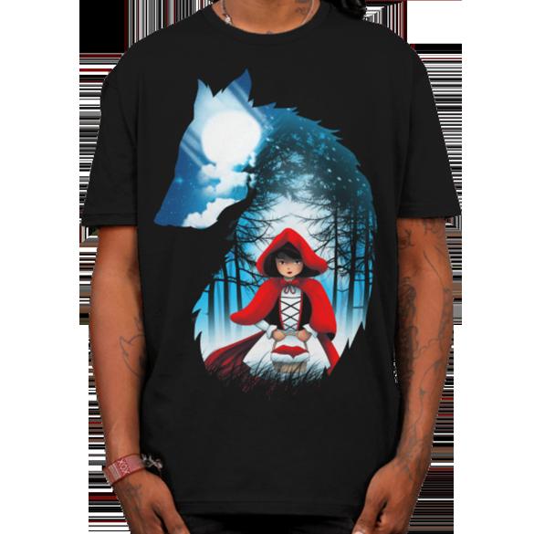 Red Hood Wolf t-shirt design