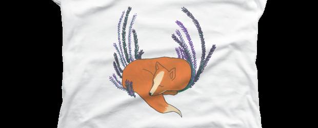 Flower Fox t-shirt design