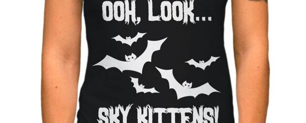 Bat Lover Sky Kittens t-shirt design
