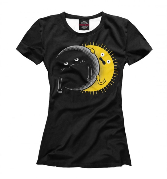 Funny Solar Eclipse T-Shirt Design