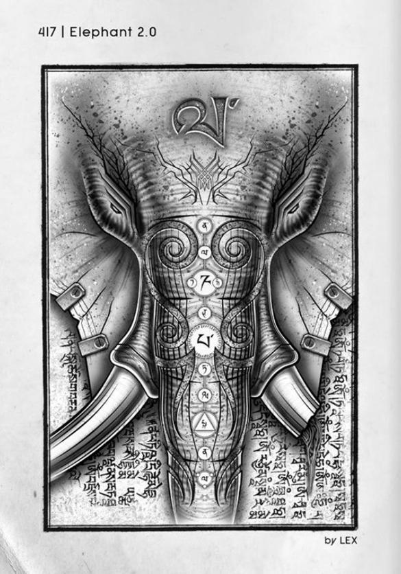 Men's Idiographic Elephant t-shirt design