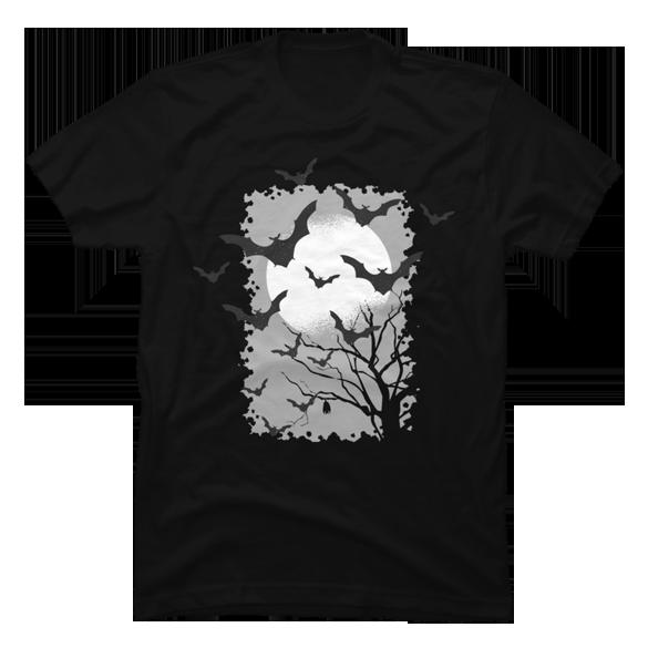 Bat night t-shirt design