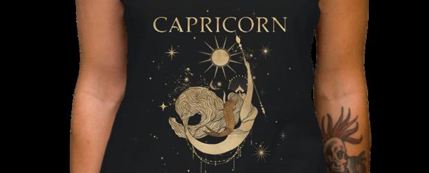 Capricorn zodiac sign t-shirt design