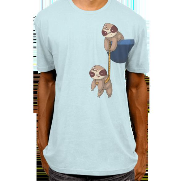 Cute sloth pocket t-shirt design