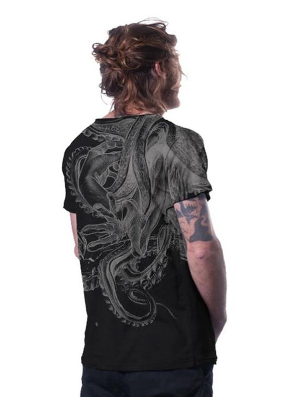 David vs Kraken Octopus t-shirt design
