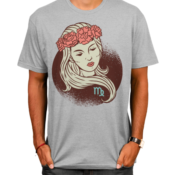 Virgo zodiac sign t-shirt design