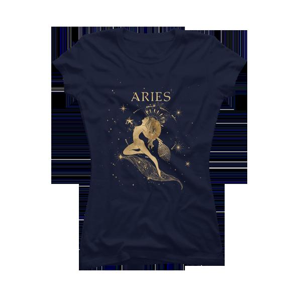 Aries zodiac sign t-shirt design