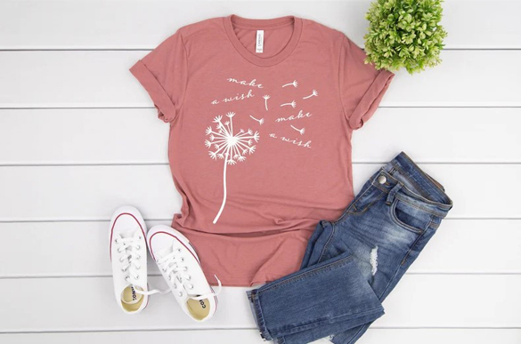 Dandelion Make a Wish t-shirt design