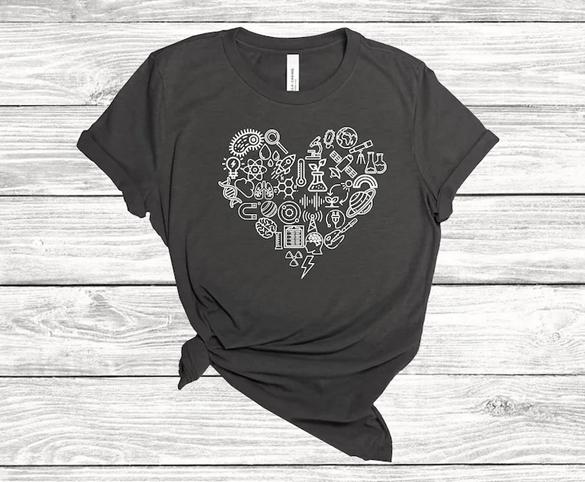 I love science t-shirt design