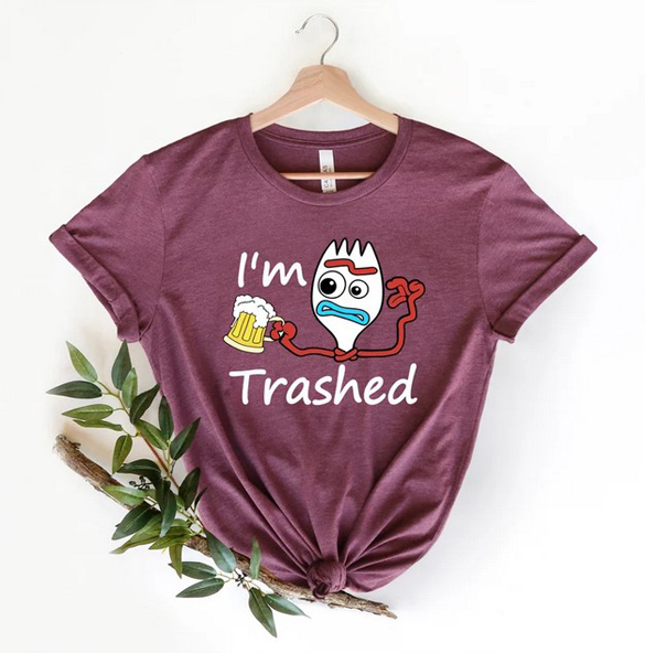 I'm Trashed t-shirt design