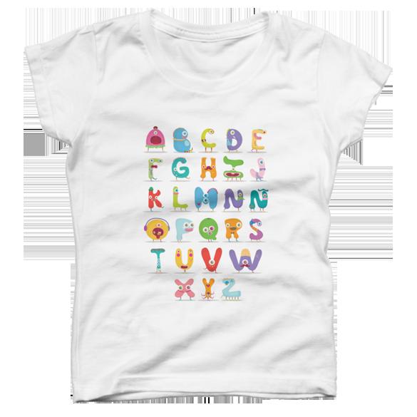 Monster Alphabet t-shirt design
